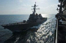 Американский корабль ВМС сбил иранский беспилотник