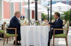 Перед началом саммита G7 Макрон встретился с Трампом наедине