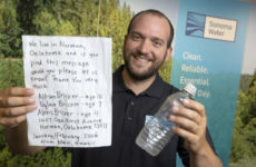 В Калифорнии мужчина нашёл послание в бутылке с Гавайских островов