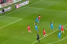 «Зенит» смог обыграть «Спартак» на выезде со счетом 1:0