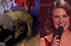Нагиев впервые в истории «Голоса» рухнул на колени перед участницей шоу