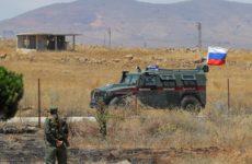 Военная полиция РФ начала патрулирование передовых позиций в районе Манбиджа