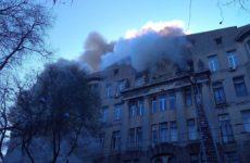 Число пострадавших при пожаре в одесском колледже возросло до 26