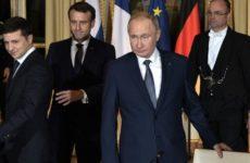 Макрон прервал разговор Путина и Зеленского на встрече в Париже, поведал Песков