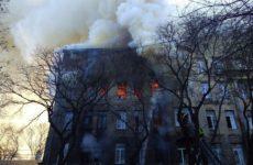 В Одессе ищут 10 человек, пропавших при пожаре в колледже