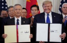 США и КНР подписали первую часть торгового соглашения