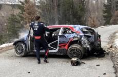 На ралли в Монте-Карло гонщик из Эстонии сорвался с обрыва на скорости 170 км/ч