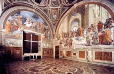 Две украинки нацарапали свои имена на фреске Рафаэля в Ватикане