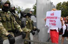 В Белоруссии задержаны сотни протестующих