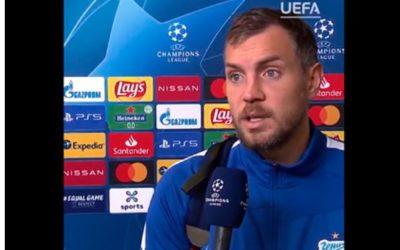 Дзюба объяснил поражение «Зенита» в стартовом матче Лиги чемпионов