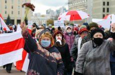 В Минске пенсионеры вышли на протестную акцию